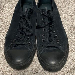 Black suede converse all stars size 10